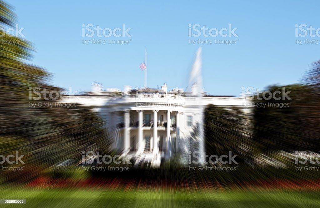 Blurred White House. stock photo