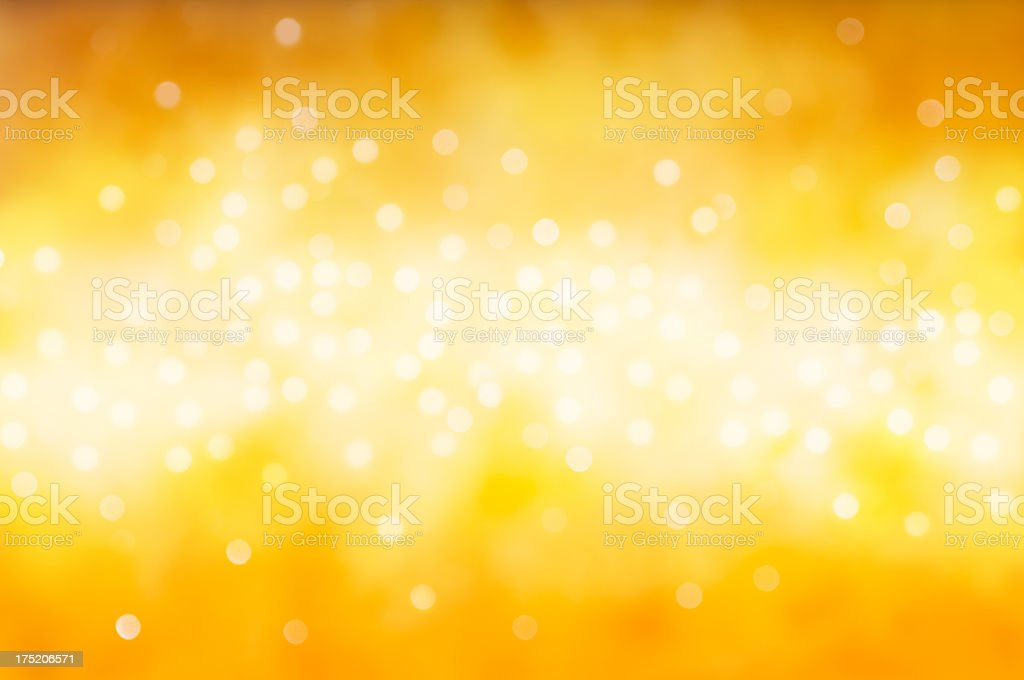 Blurred yellow sparkles royalty-free stock photo