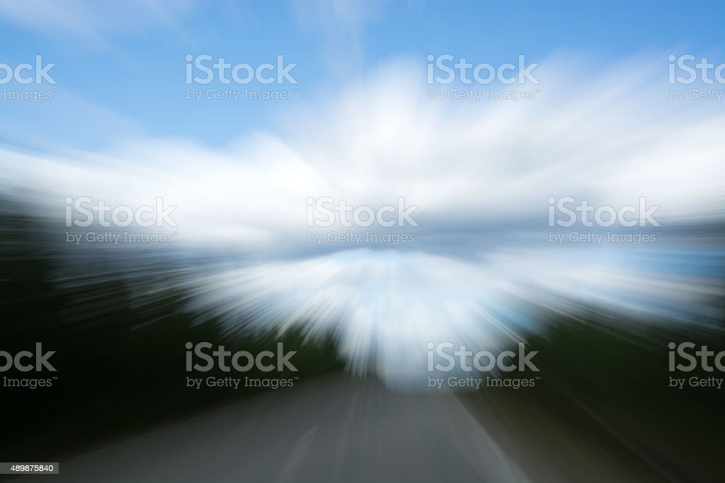 Blurried View of a Driver stock photo