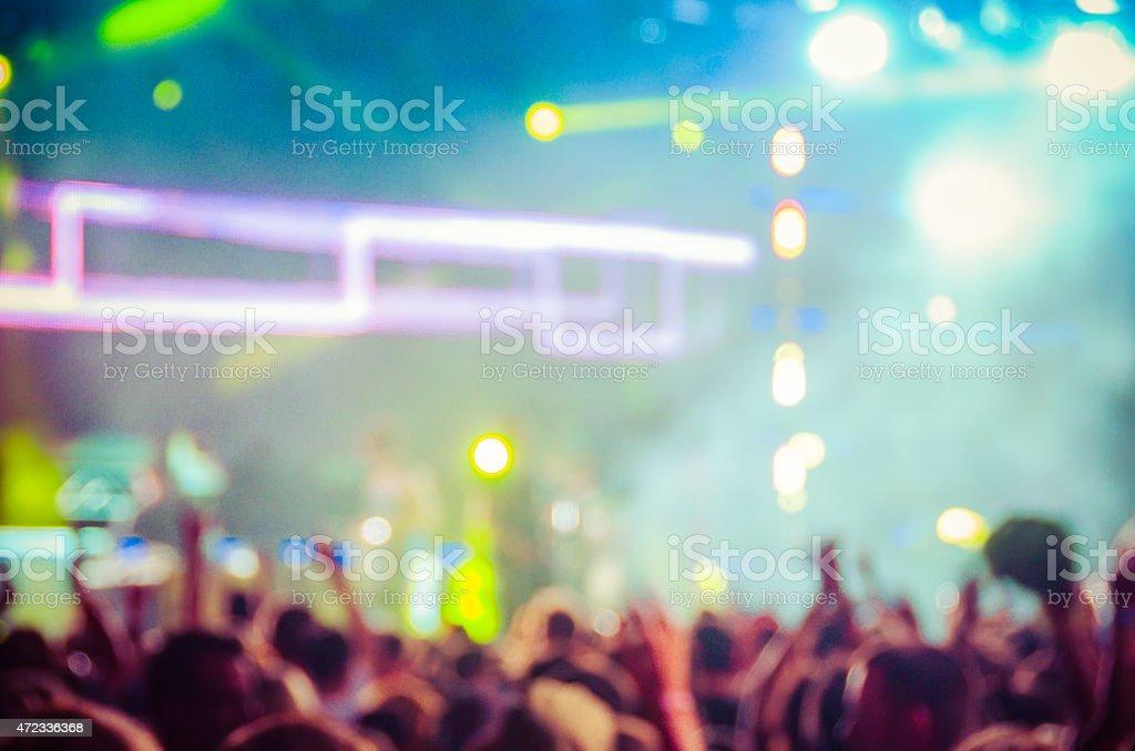 Blurry Concert Photo stock photo