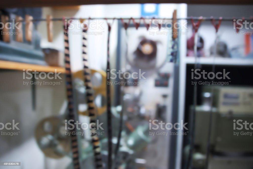 Blurry film dark room stock photo