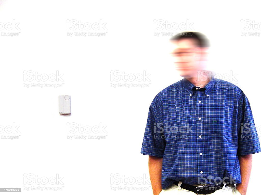 Blurry Head stock photo