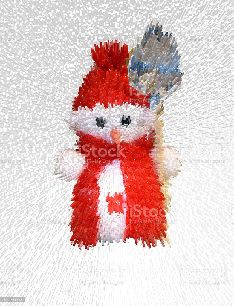 Blurry image of a snowman stock photo