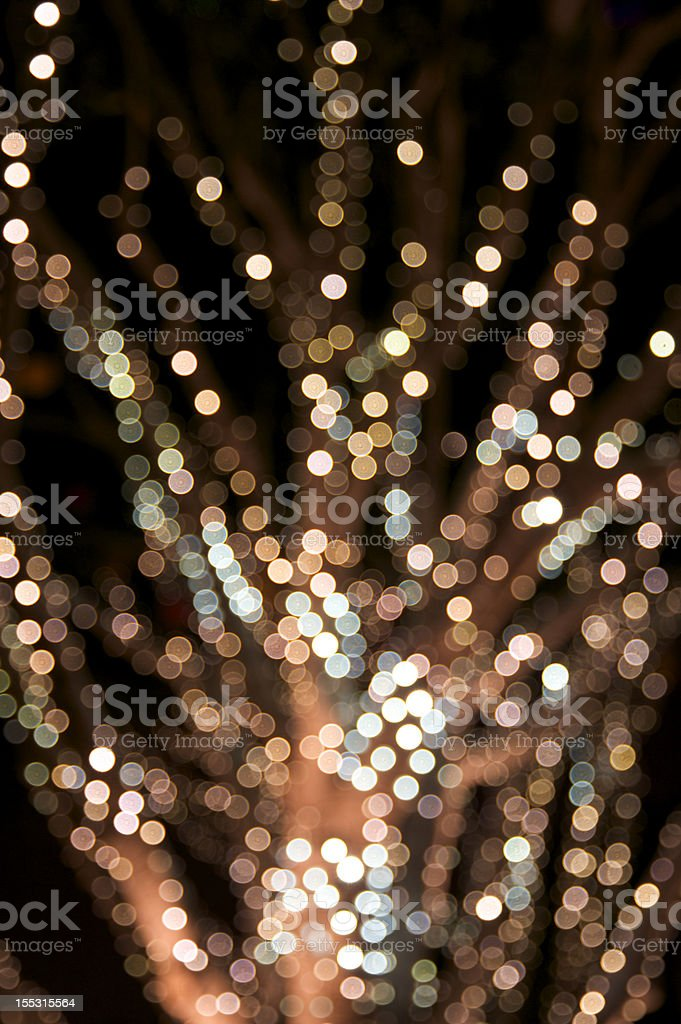 Blurry lighted Christmas tree royalty-free stock photo