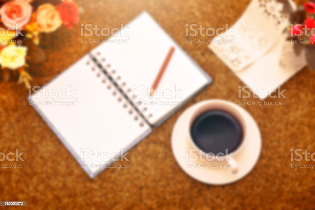 Blurry of a cup of black coffee old color stlye stock photo