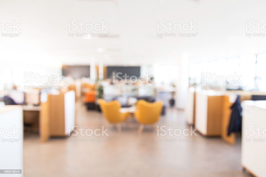 Blurry office background stock photo