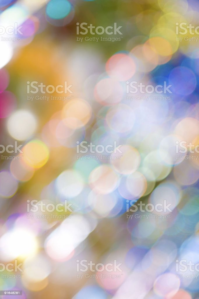 Blurry pattern of colorful decoration lights royalty-free stock photo