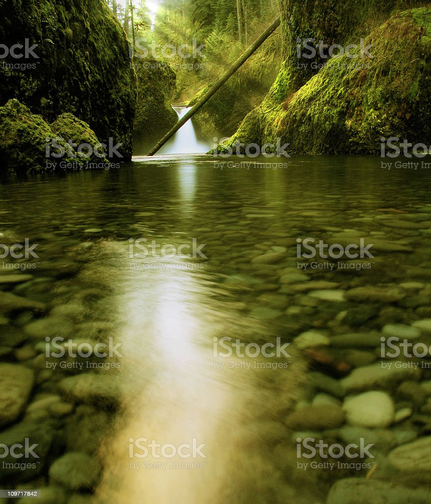 Blurry Photo of Waterfall Landscape royalty-free stock photo