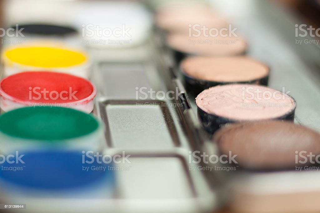 Blurry professional cosmetic background. stock photo