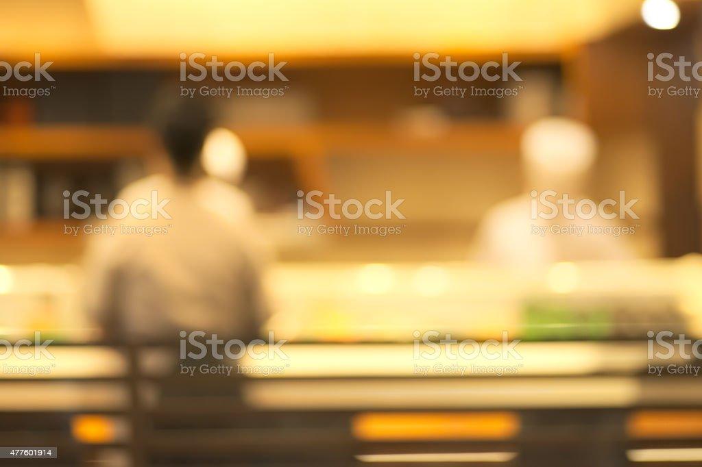 Blurry restaurant stock photo