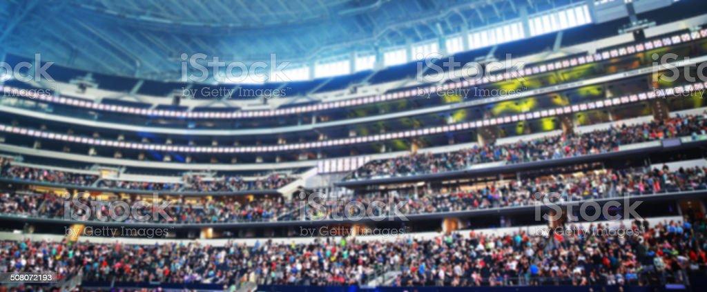 Blurry Stadium Crowd stock photo