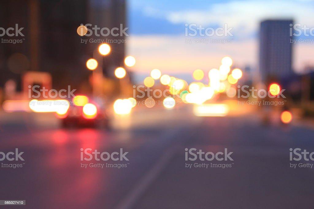 Blurry streetlights stock photo
