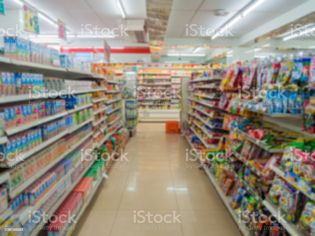 Blurry Supermarket stock photo