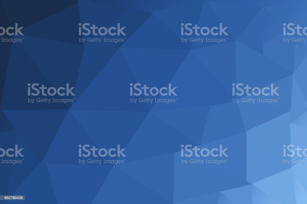 DARK BLUE blurry triangle polygon background stock photo