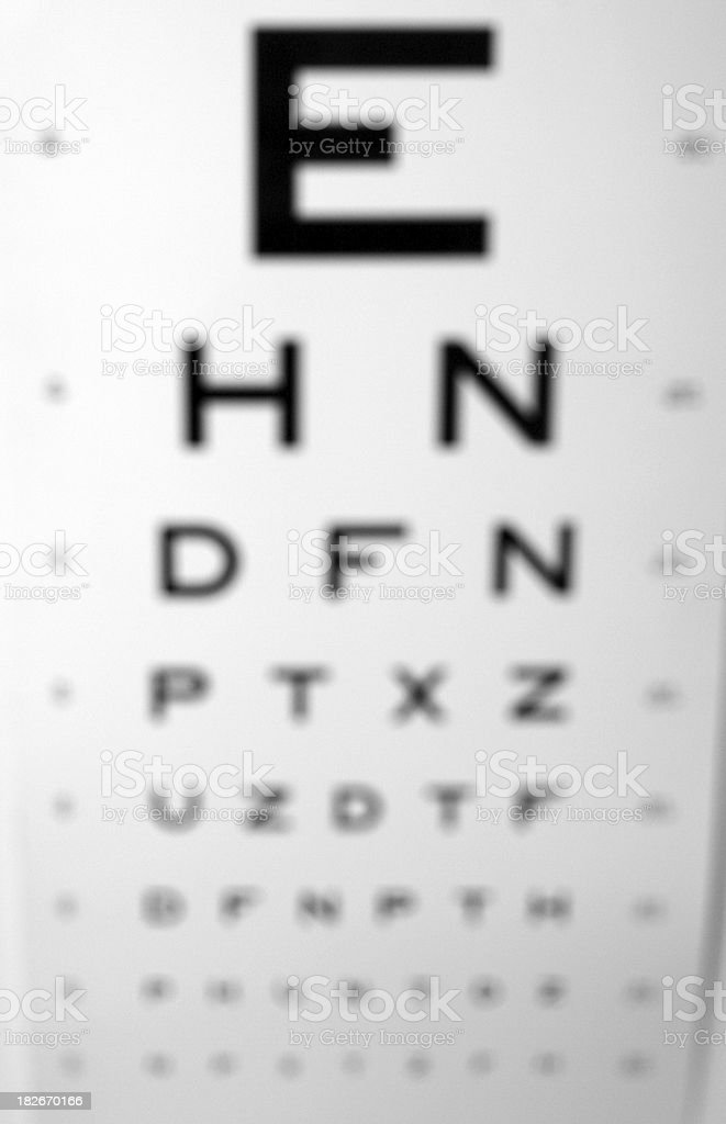 Blury vision royalty-free stock photo