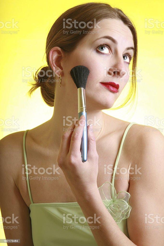 Blush Application royalty-free stock photo