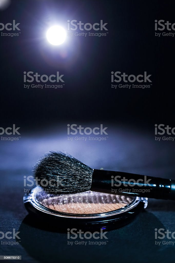 Blush, glamour light on black background stock photo