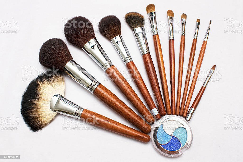 Blusher and Eyeshadow stock photo