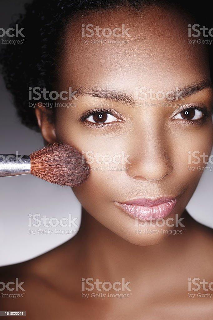 Blushing beauty royalty-free stock photo