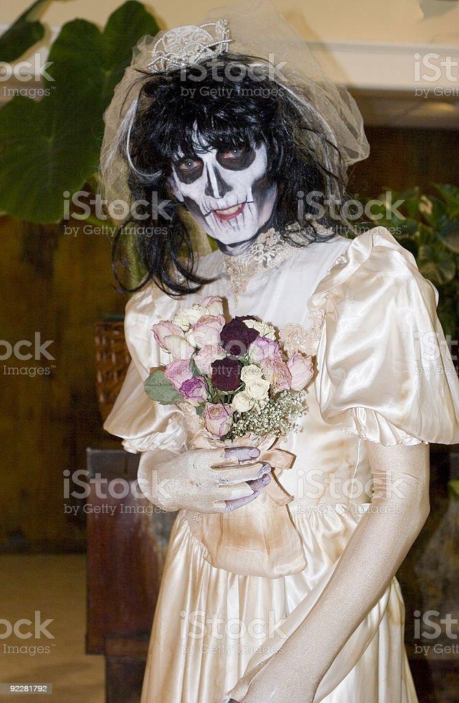 Blushing Bride royalty-free stock photo