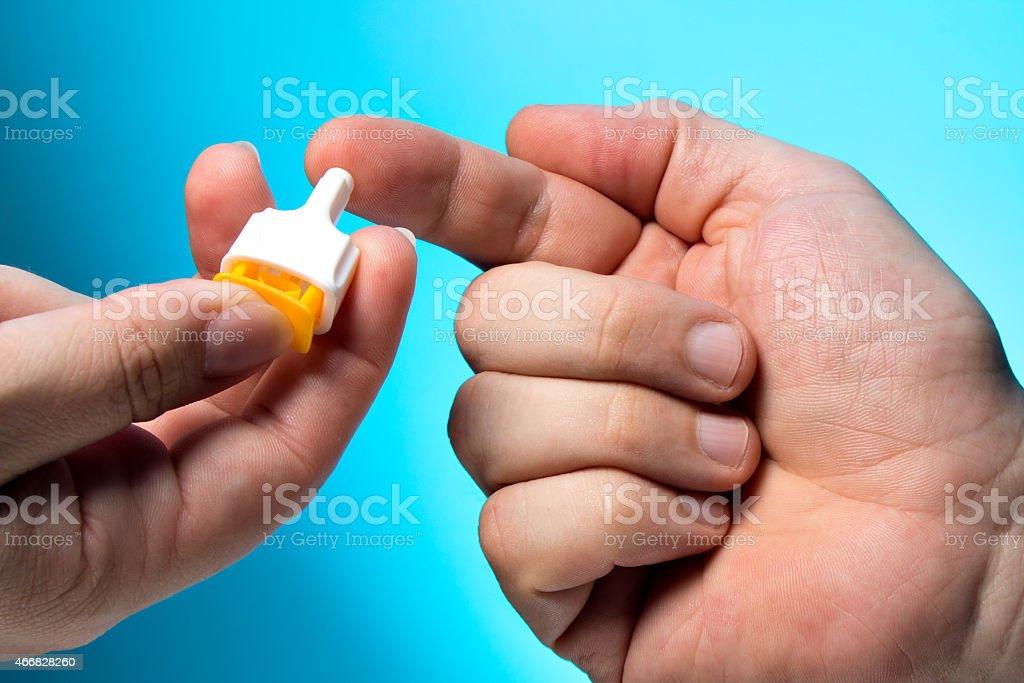 Bluttest, Blutprobe stock photo