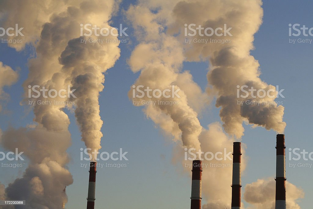 blye sky and exhaust smoke royalty-free stock photo