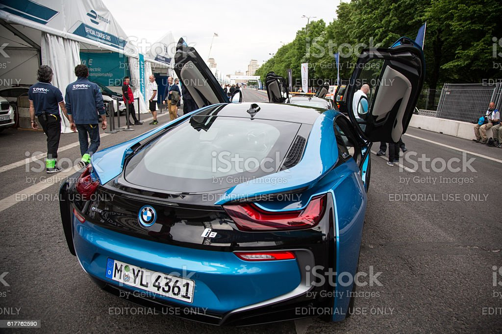 Berlin, Germany - May 20, 2016: Bmw electric race car stock photo