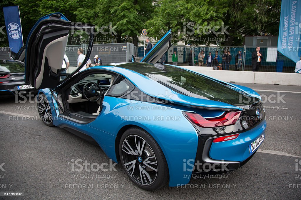 Berlin, Germany - May 20, 2016: Bmw electric racing car stock photo