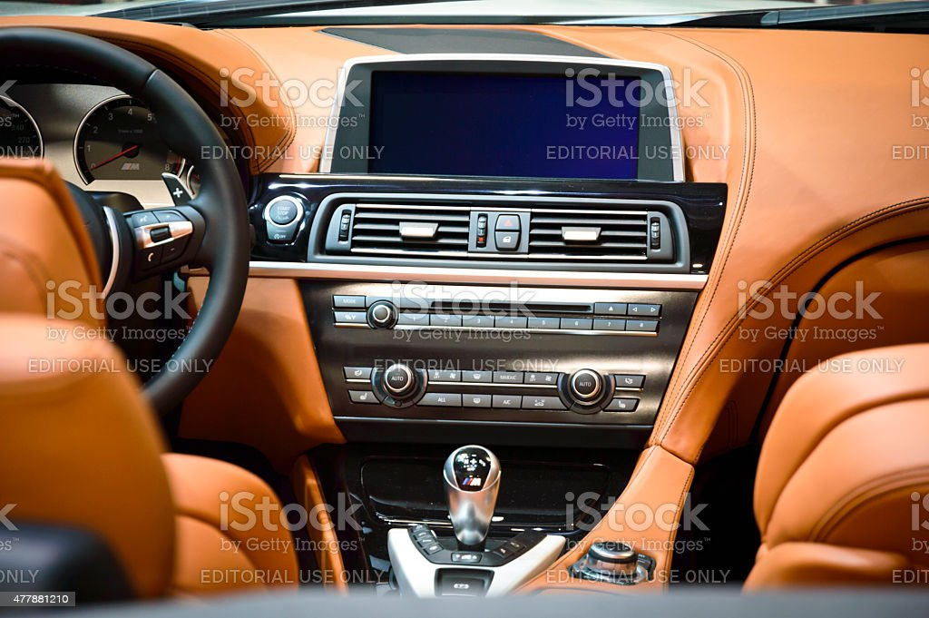Bmw M5 F10 Car Interior stock photo