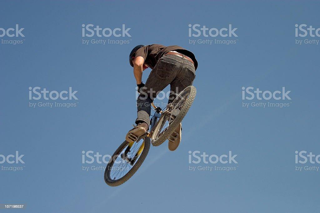 bmx biker jumping royalty-free stock photo
