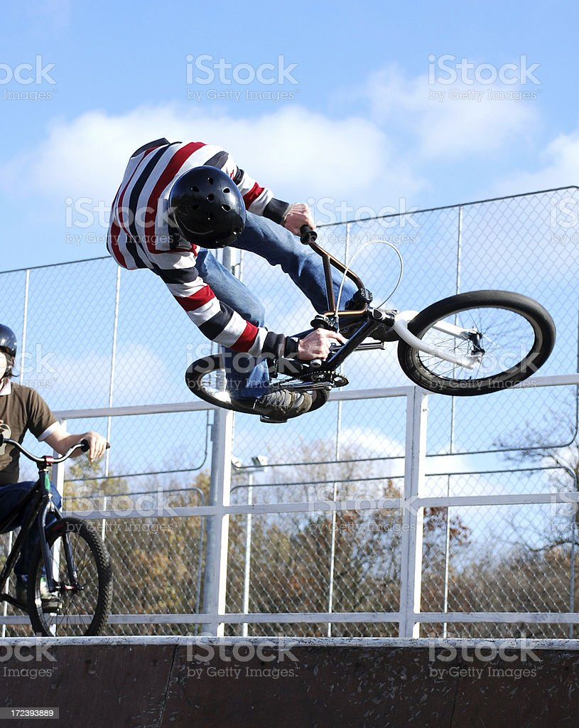 bmx cyclists royalty-free stock photo