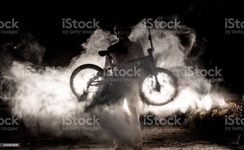 bmx rider. stock photo