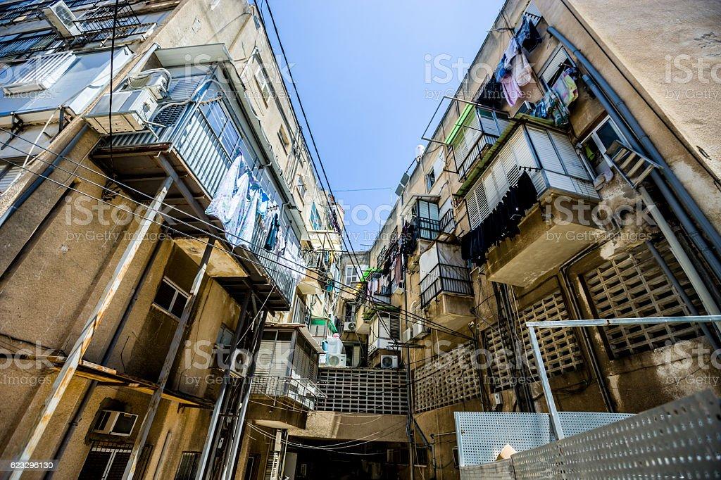 Bnei Brak apartment building, Tel Aviv, Israel stock photo