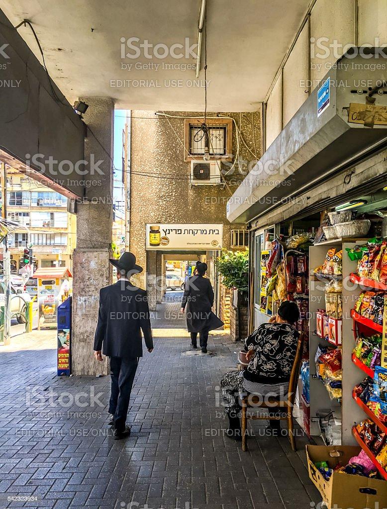 Bnei Brak streets, Israel stock photo