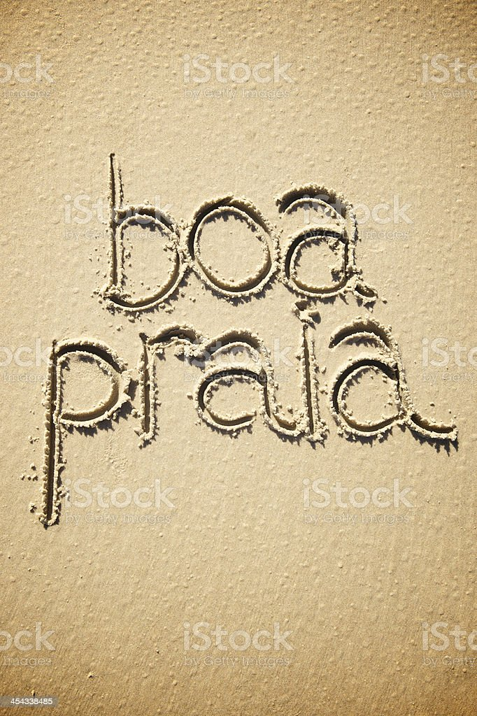 Boa Praia is Brazilian Expression Meaning Have a Good Beach stock photo