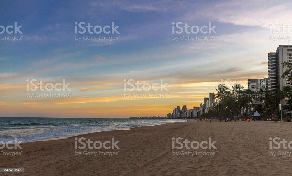 Boa viagem Beach in Recife - Pernambuco, Brazil stock photo