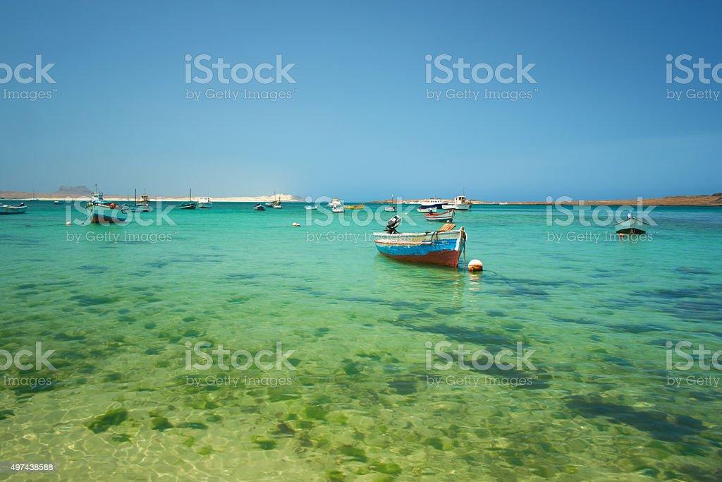 Boa Vista Harbour Scenic stock photo
