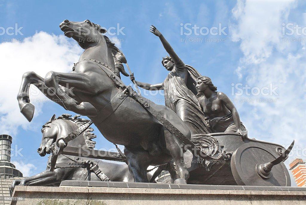 Boadicea in London, England stock photo