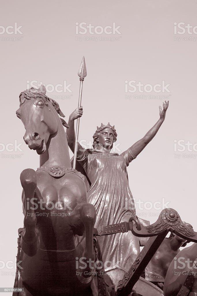Boadicea Monument by Thornycroft, London stock photo
