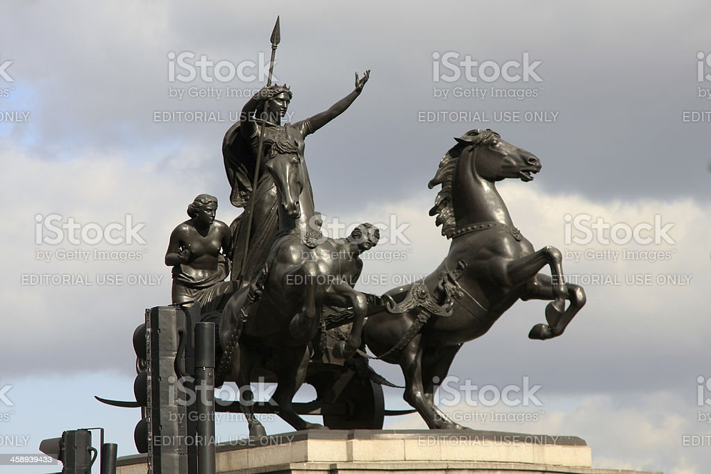 Boadicea statue in London, England stock photo