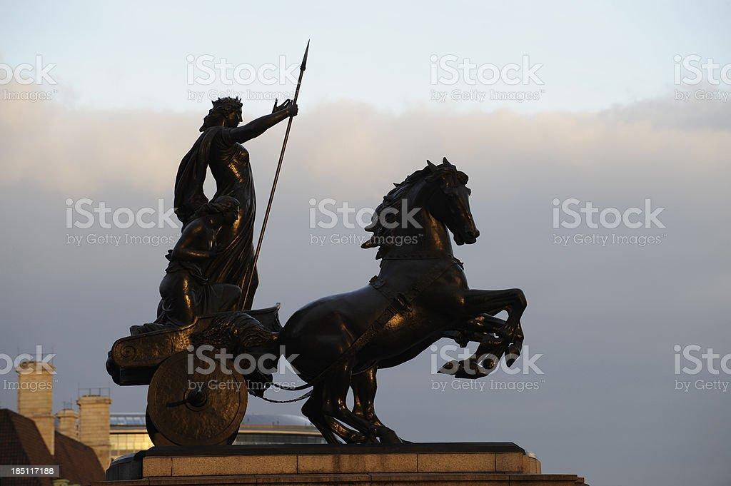 Boadicea statue London England. stock photo