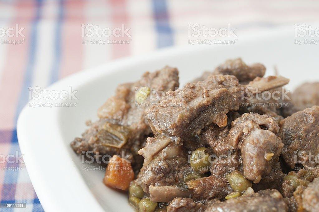 boar stew stock photo