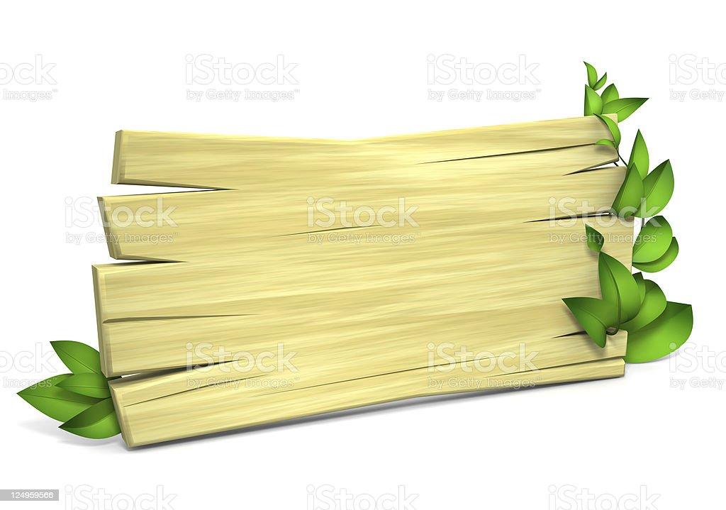 Board and foliage stock photo