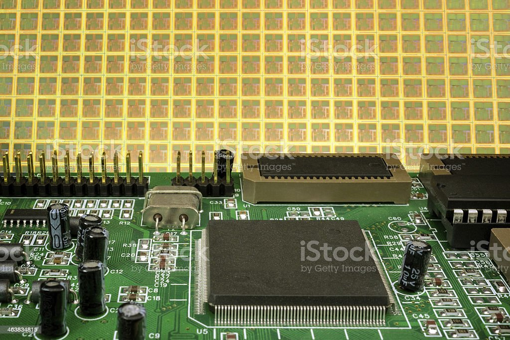 Board and wafer background stock photo