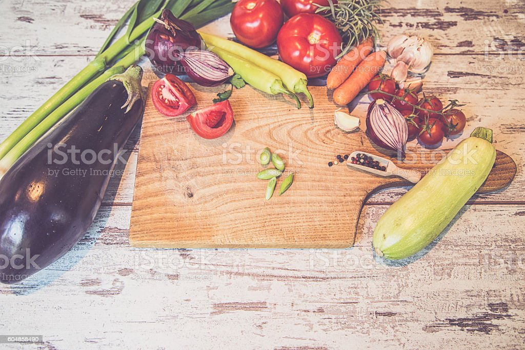 board cooking ingredient stock photo