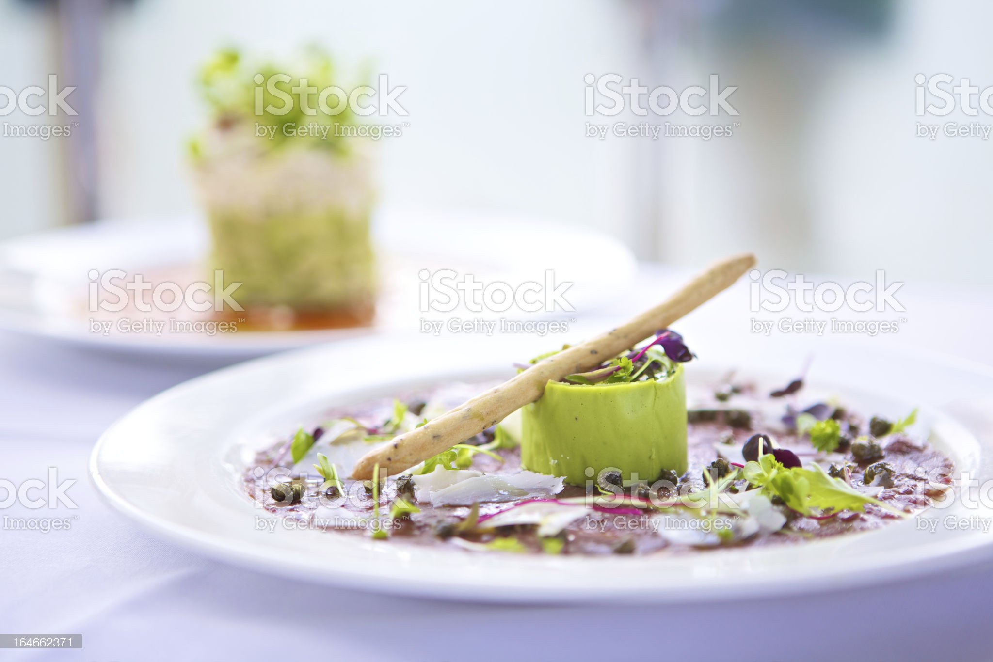A board dressed with beautiful gourmet food royalty-free stock photo
