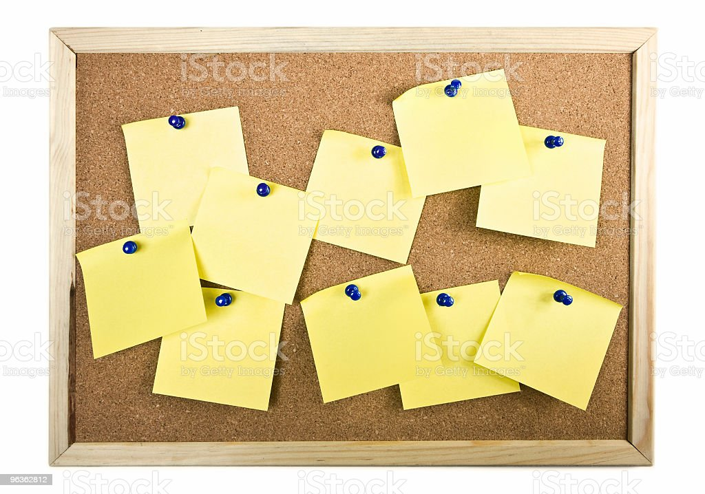 Board filled with Notes royalty-free stock photo
