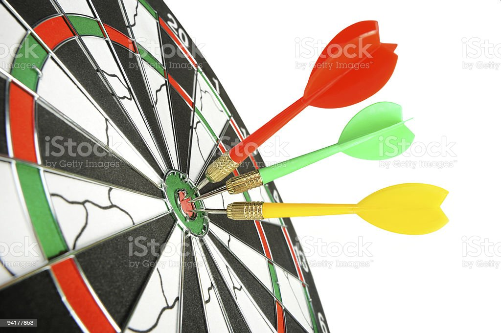 Board for darts. royalty-free stock photo