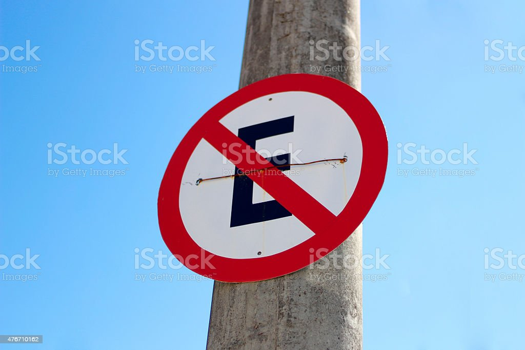 Board Forbidden aged Parking stock photo
