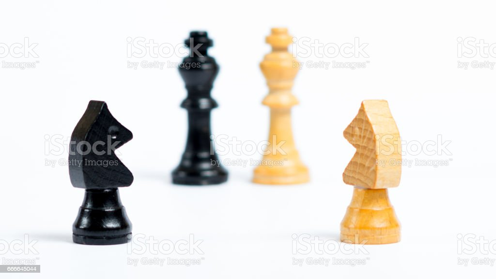 Board game fiures - Making a decision stock photo